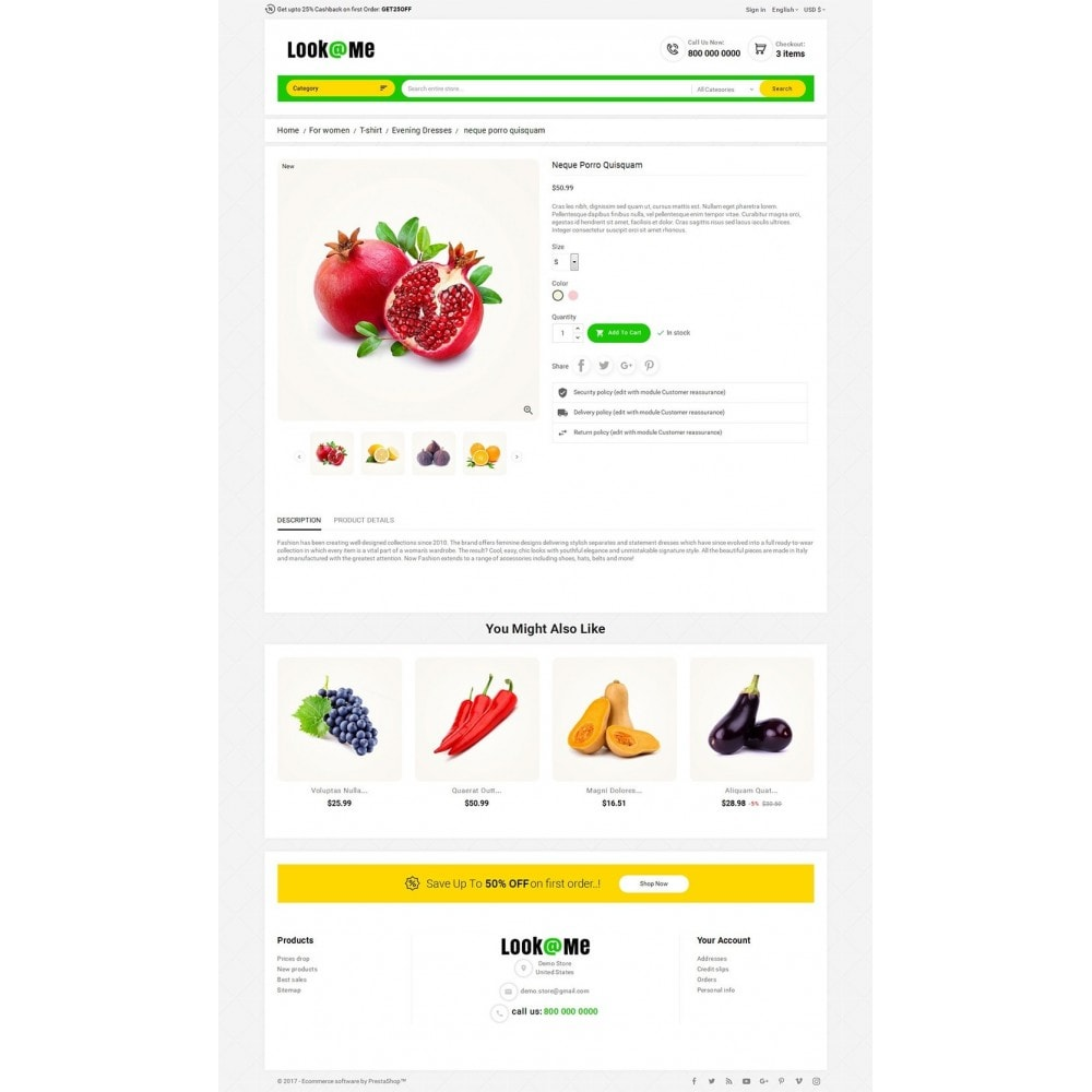 theme - Alimentation & Restauration - Look me Grocery Food - 5