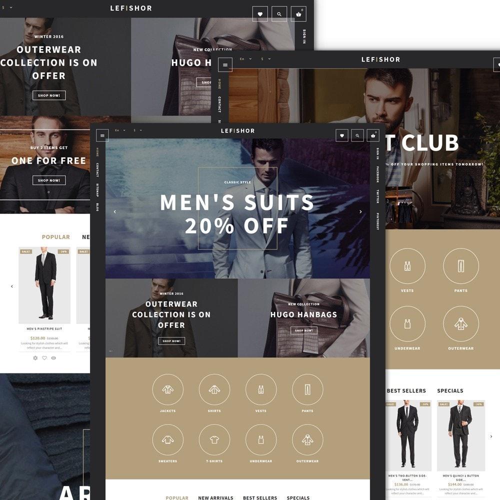 theme - Мода и обувь - Lefishor - PrestaShop шаблон мужской одежды - 2