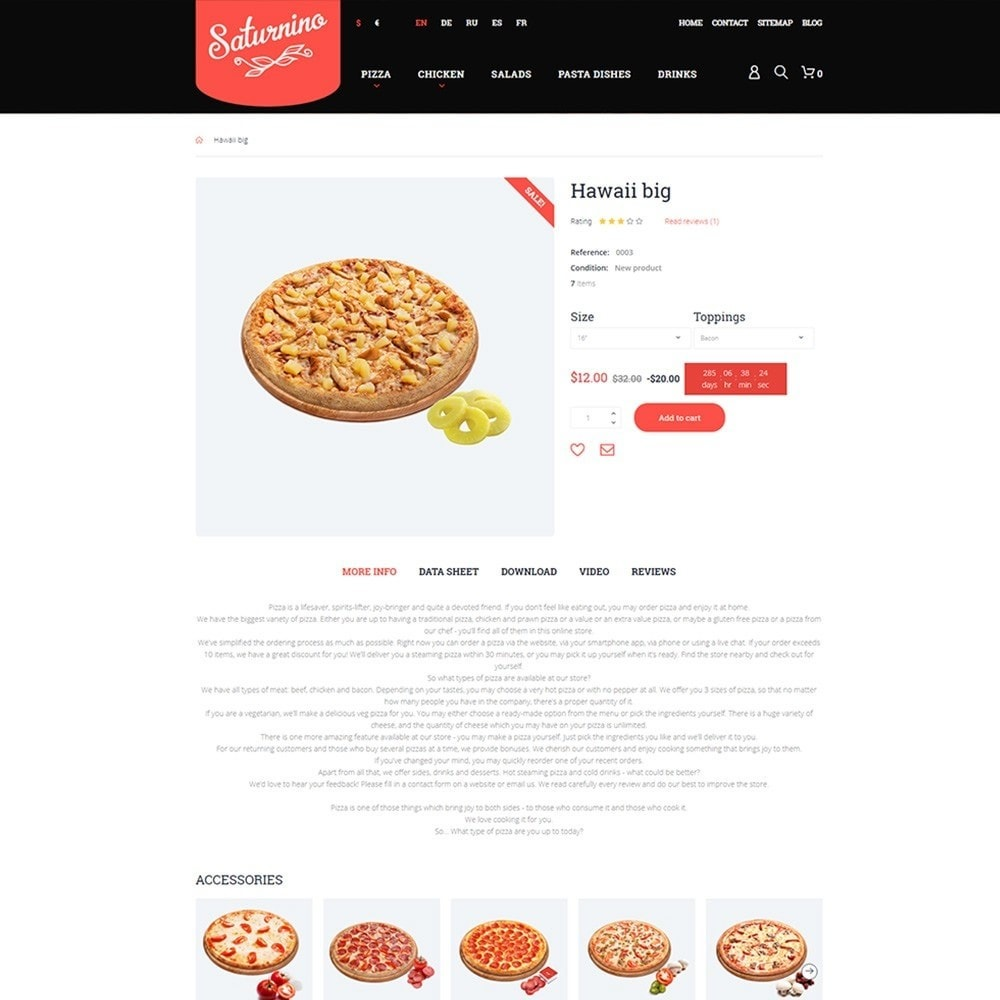 theme - Food & Restaurant - Saturnino - Pizza Restaurant - 3
