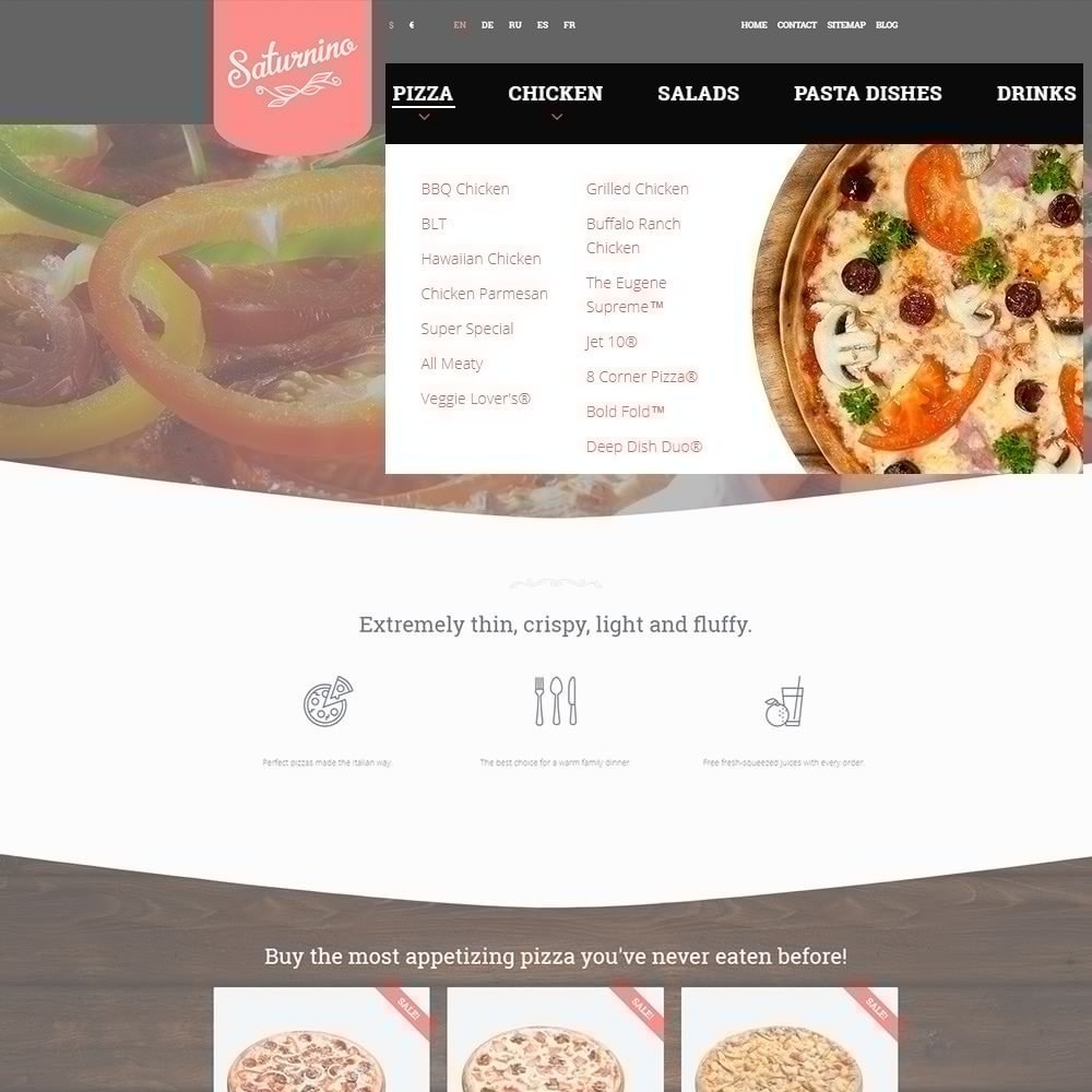 theme - Alimentation & Restauration - Saturnino - Pizzeria thème PrestaShop adaptatif - 4