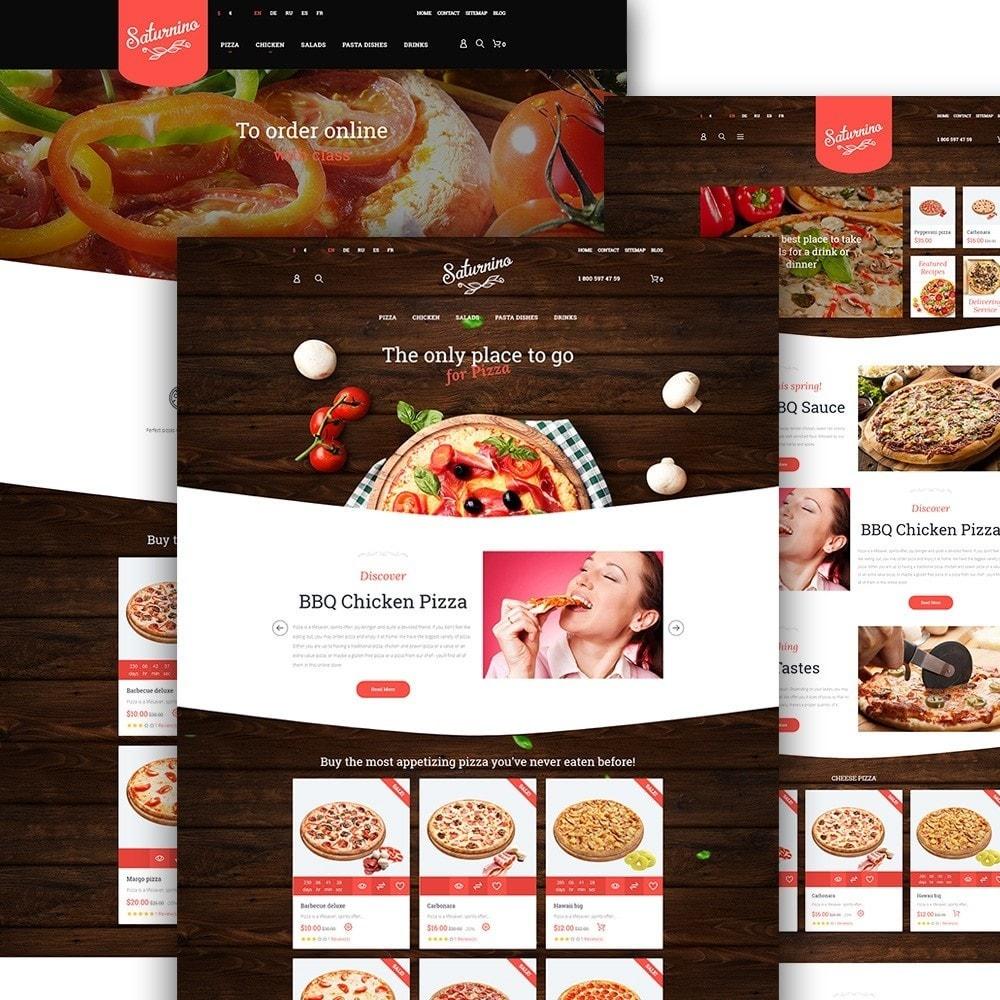theme - Продовольствие и рестораны - Saturnino - PrestaShop шаблон пиццерии - 3