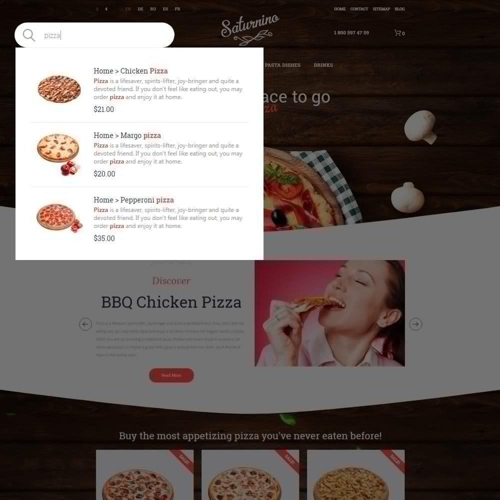 theme - Продовольствие и рестораны - Saturnino - PrestaShop шаблон пиццерии - 6