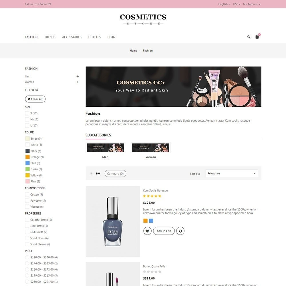 theme - Salute & Bellezza - Cosmetics Store - 4