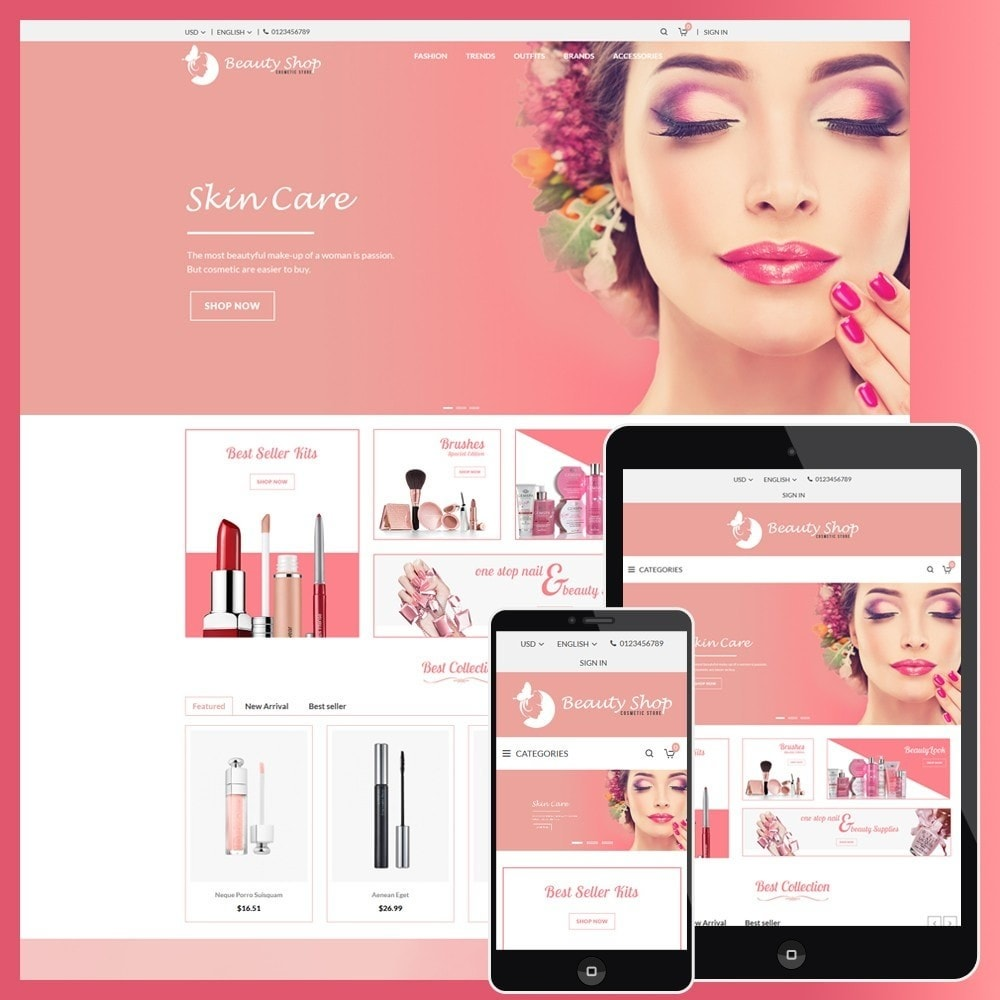 theme - Health & Beauty - Beauty Cosmetic store - 1