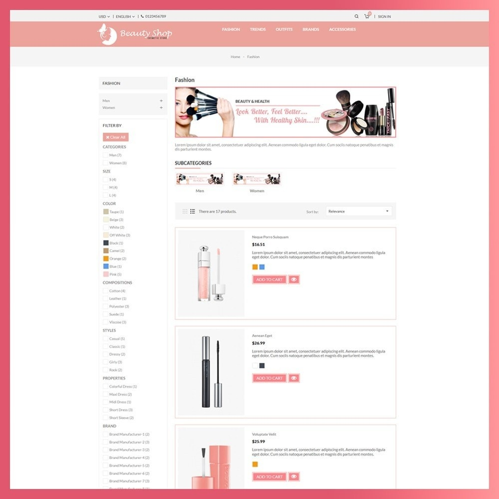 theme - Health & Beauty - Beauty Cosmetic store - 4