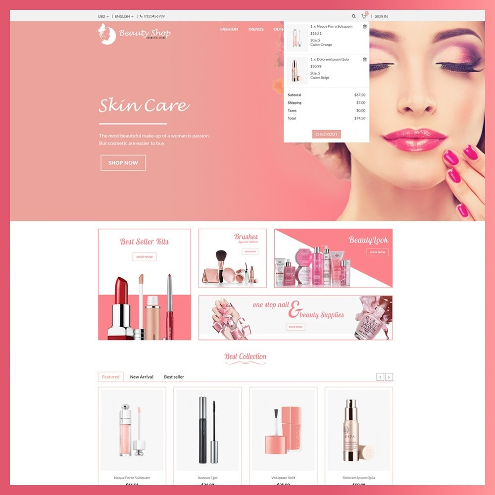 theme - Health & Beauty - Beauty Cosmetic store - 6