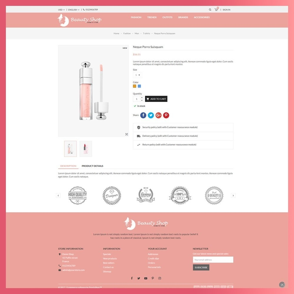 theme - Health & Beauty - Beauty Cosmetic store - 7