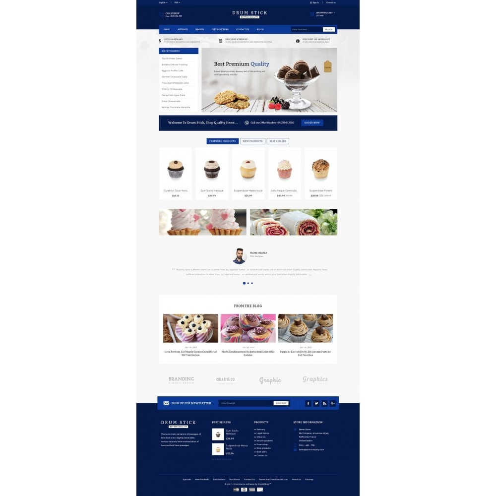 theme - Alimentation & Restauration - Drum Stick - Bakery Store - 2