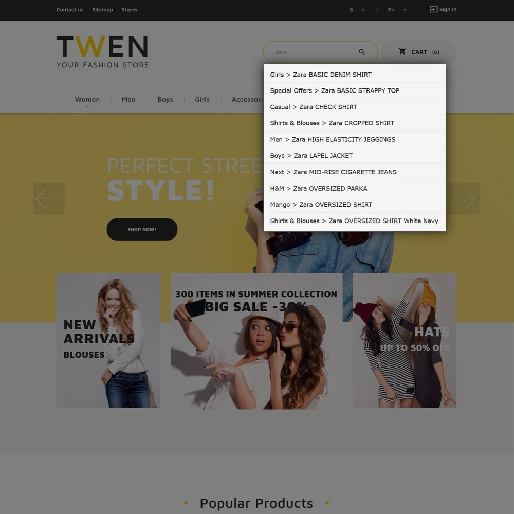 theme - Мода и обувь - Twen - Адаптивный PrestaShop шаблон модной одежды - 7