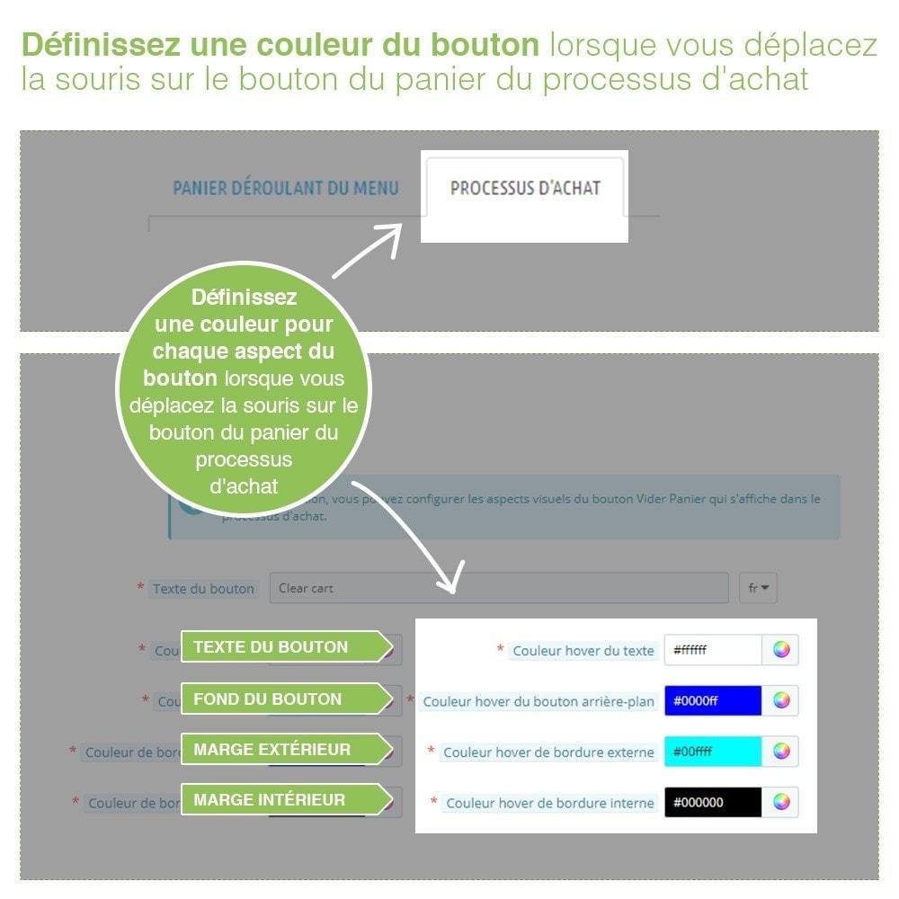 module - Inscription & Processus de commande - Bouton Vider Panier – Supprimer produits du panier - 6