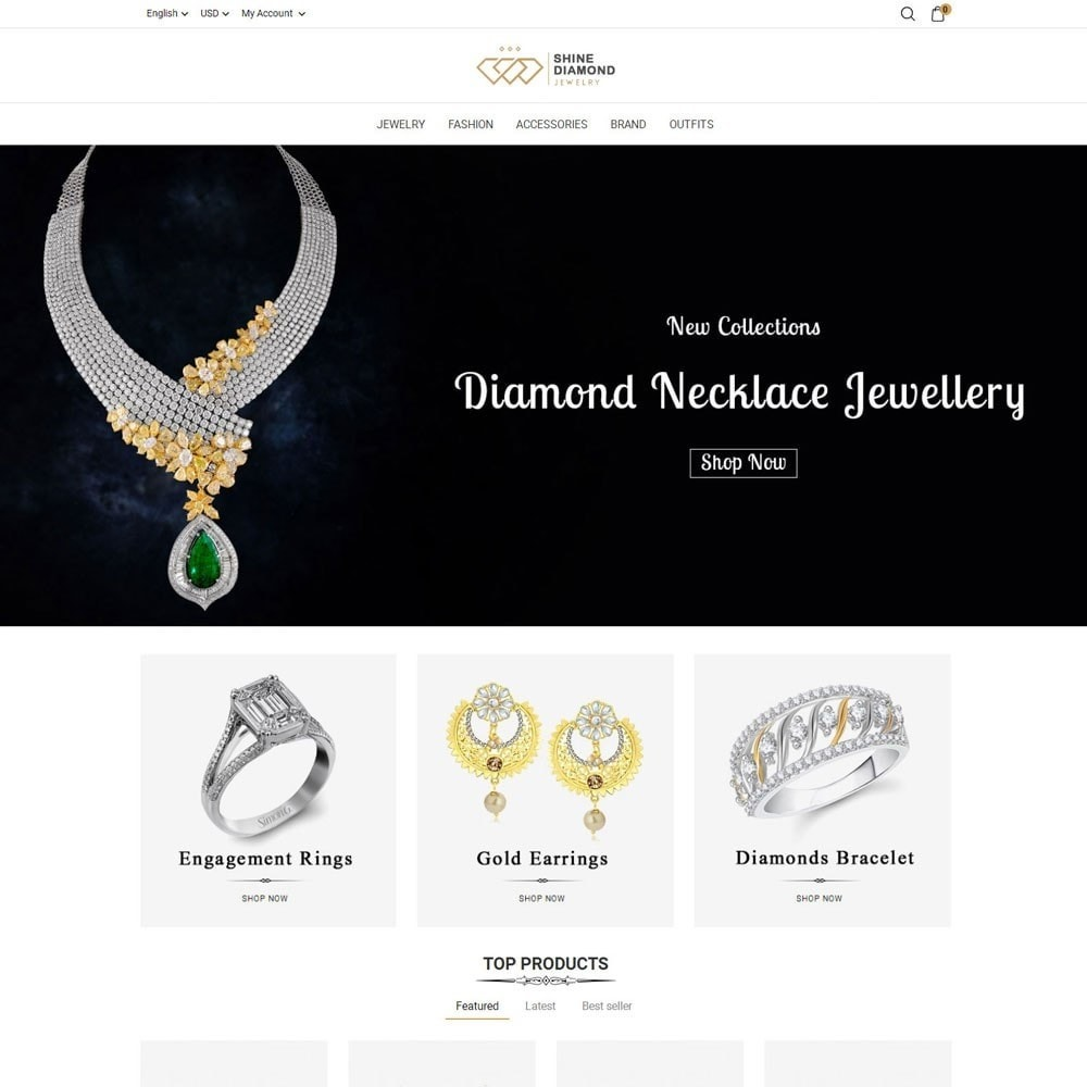 theme - Bellezza & Gioielli - Shine Diamond Jewelry Store - 2