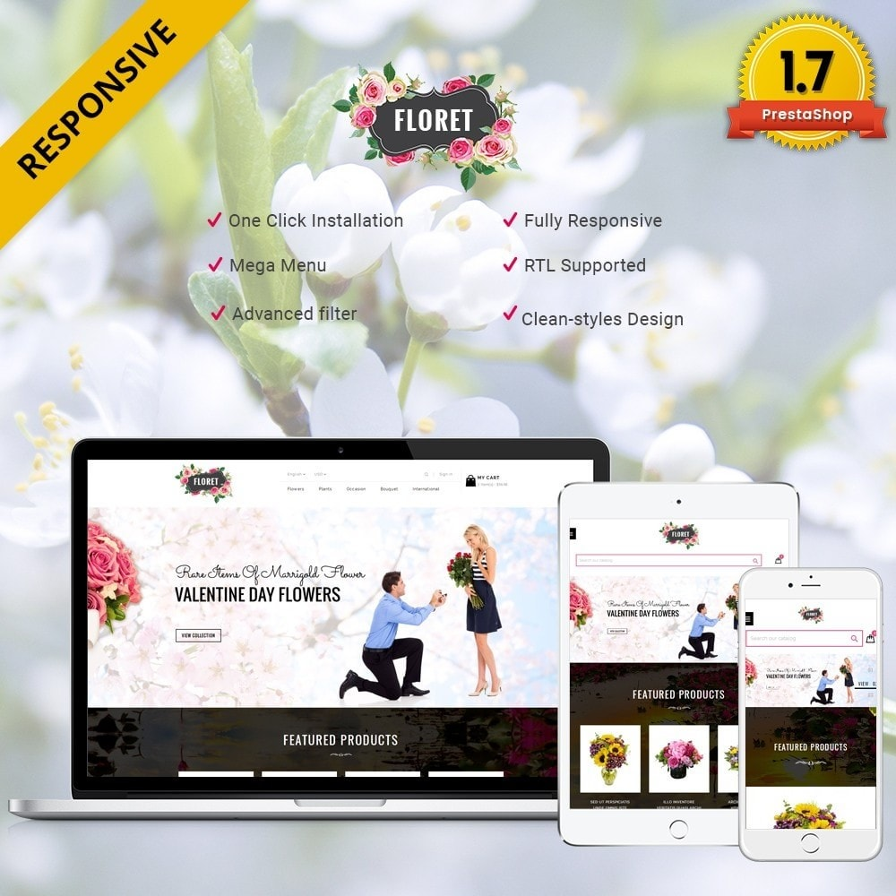 theme - Gifts, Flowers & Celebrations - Floret Flower Store - 1