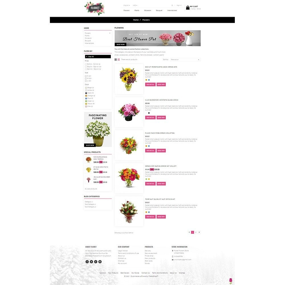 theme - Gifts, Flowers & Celebrations - Floret Flower Store - 4