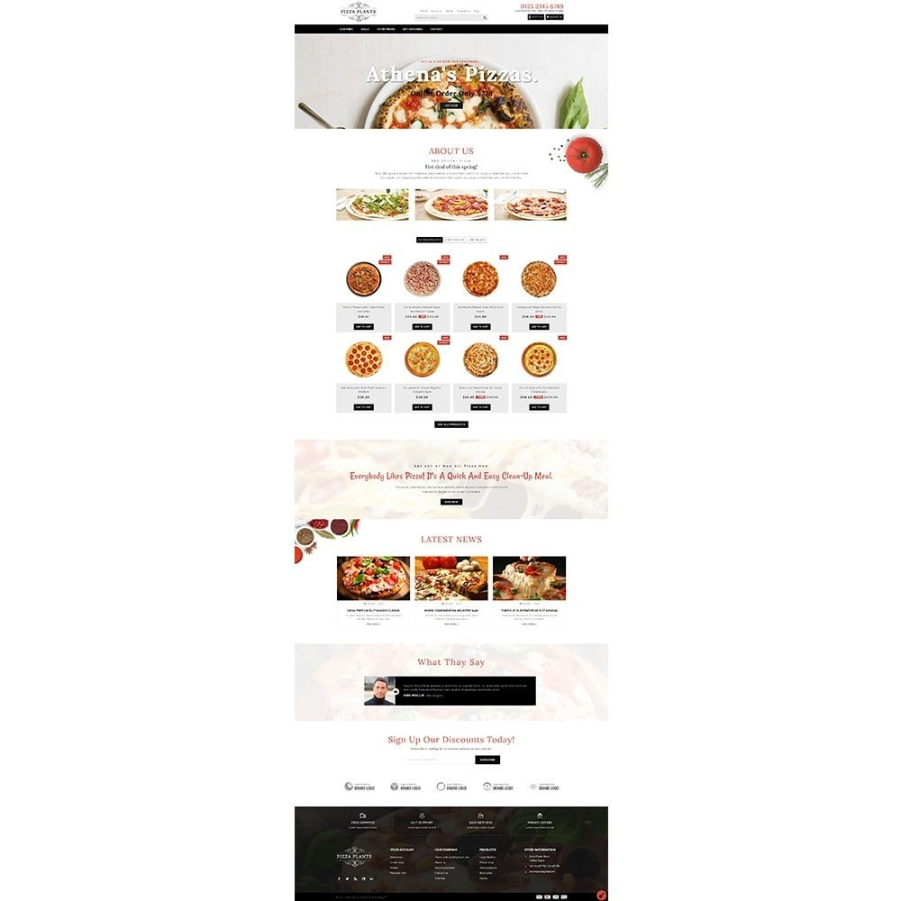 theme - Продовольствие и рестораны - Pizza Plants Store - 2