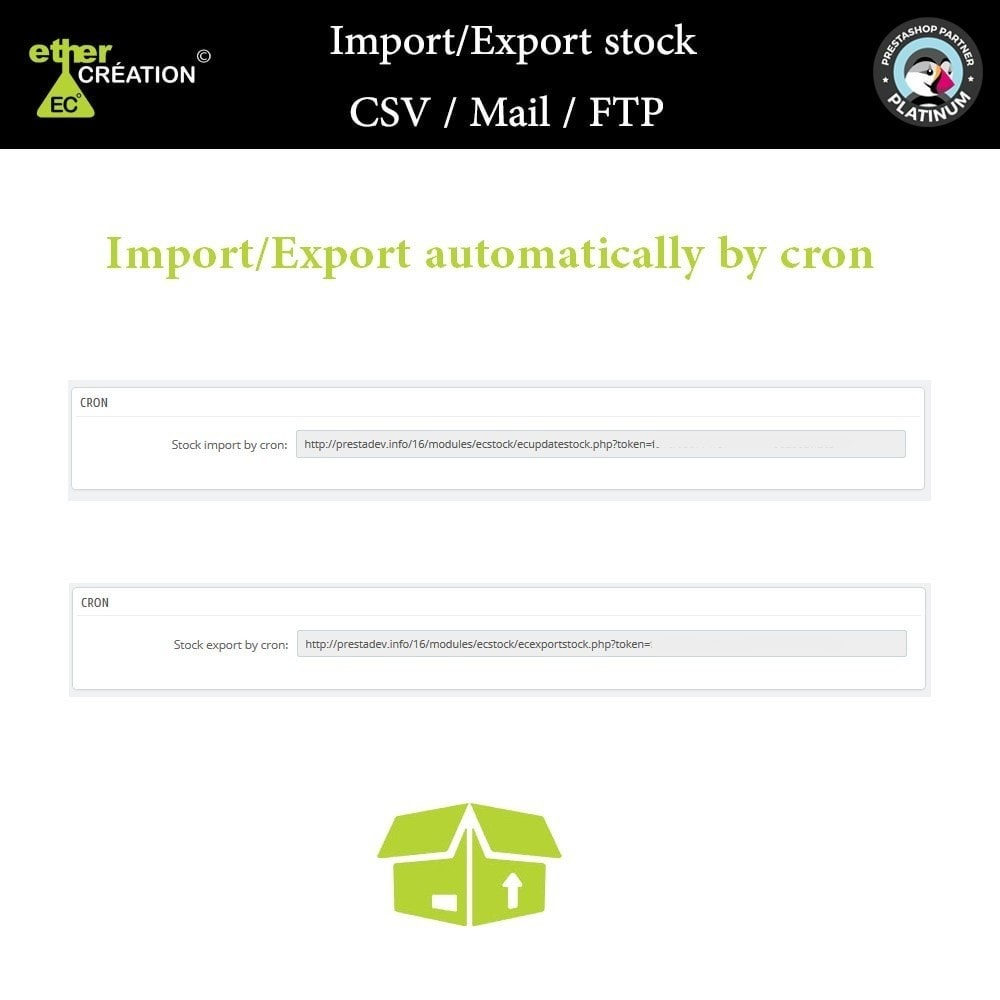 module - Import & Eksport danych (csv, pdf...) - Import / Export stock products CSV / Mail / FTP - 4