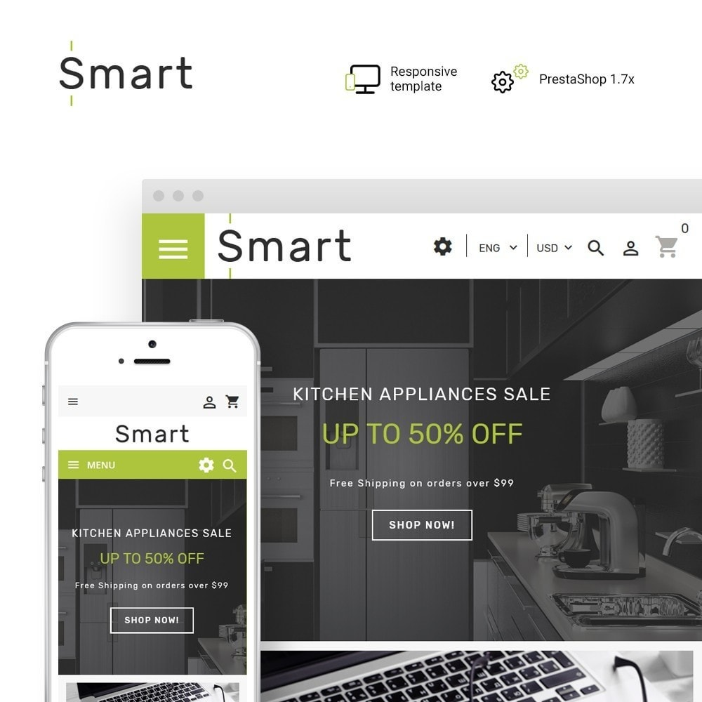 theme - Electronics & Computers - Smart - Gadgets & Electronics PrestaShop 1.7 Theme - 1