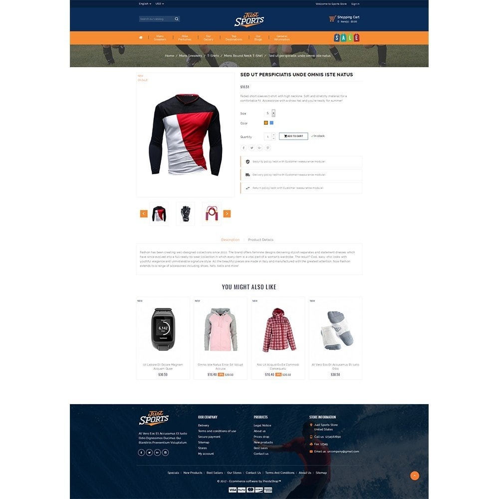 theme - Sports, Activities & Travel - Just Sports Store - 5