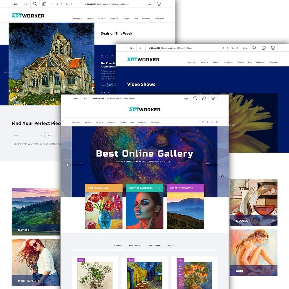 theme - Kultura & Sztuka - Artworker - Online Gallery & Artist Portfolio - 2
