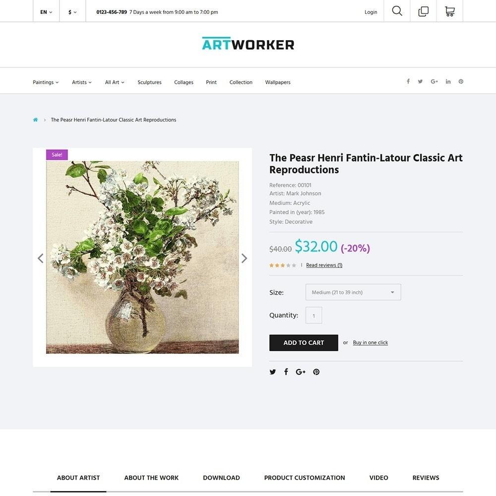 theme - Art & Culture - Artworker - Online Gallery & Artist Portfolio - 4