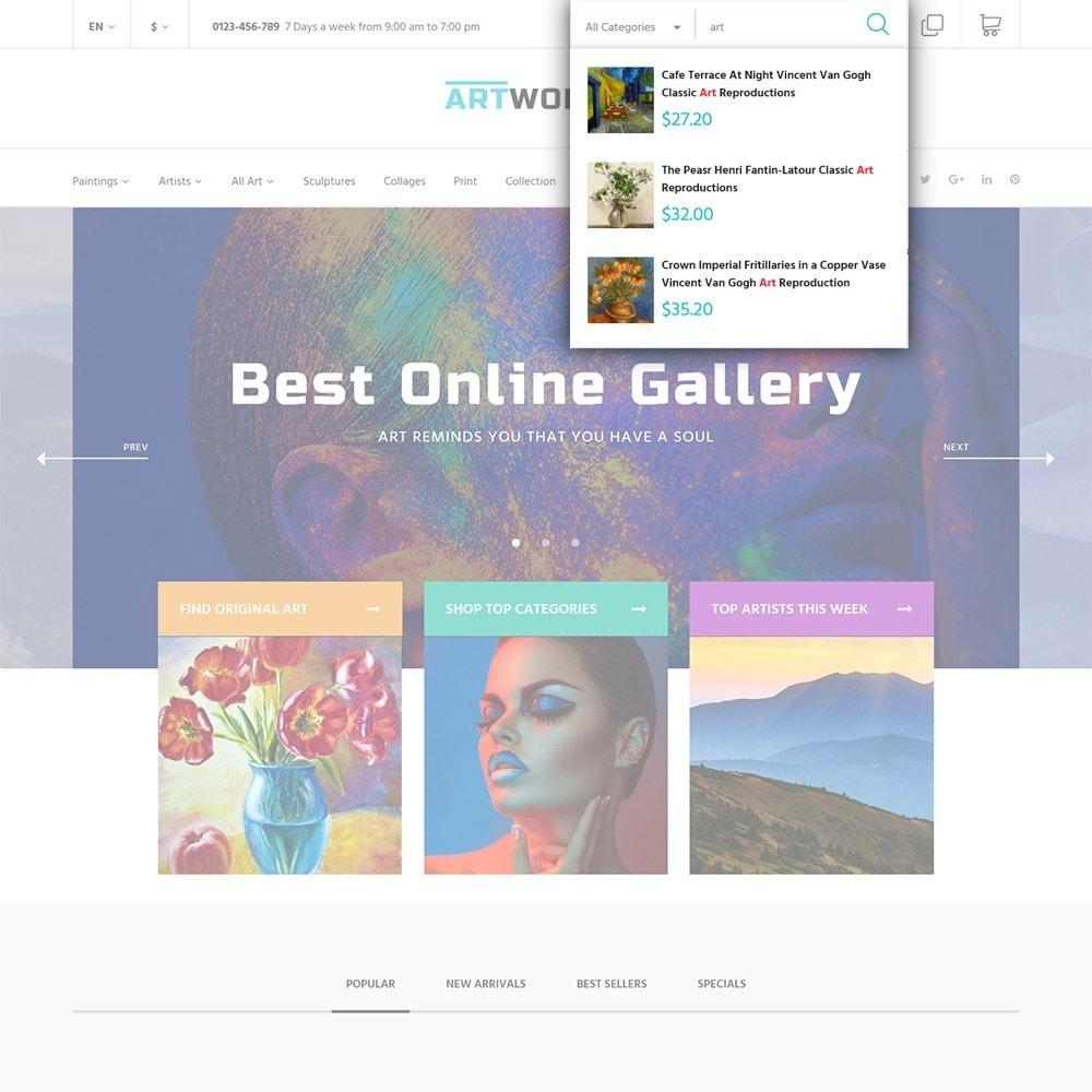 theme - Art & Culture - Artworker - Online Gallery & Artist Portfolio - 5