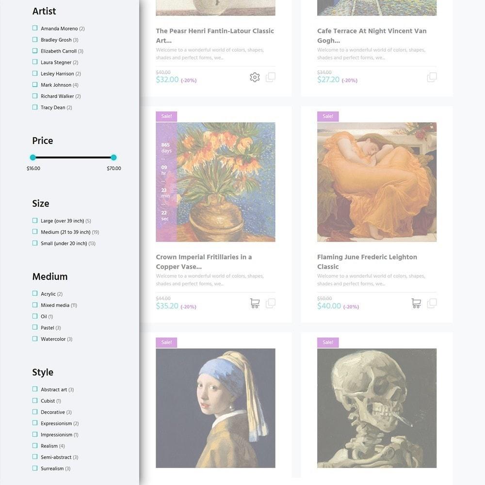theme - Arte y Cultura - Artworker -  Sitio de Galerías de arte - 3