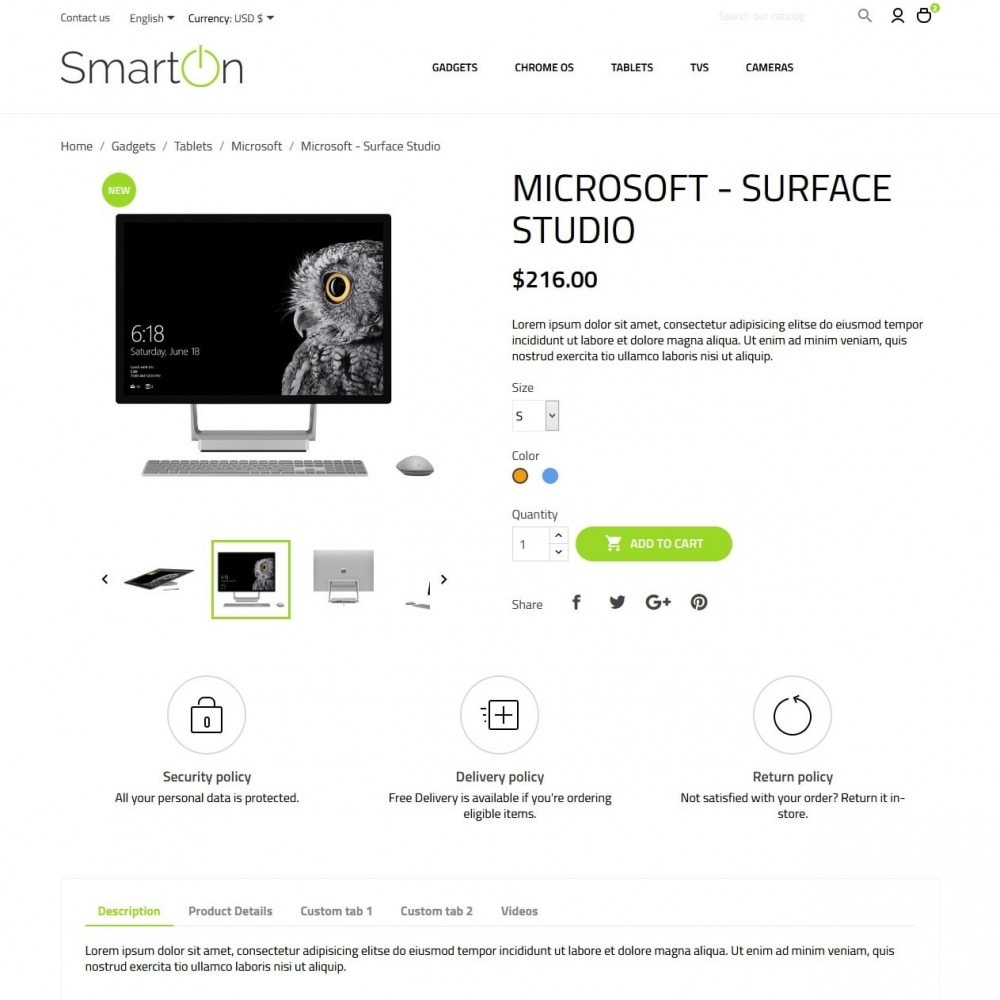 theme - Электроника и компьютеры - SmartOn - High-tech Shop - 6