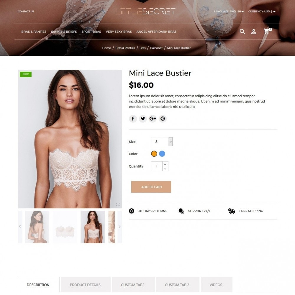 theme - Lingerie & Erwachsene - Little Secret Lingerie Shop - 5