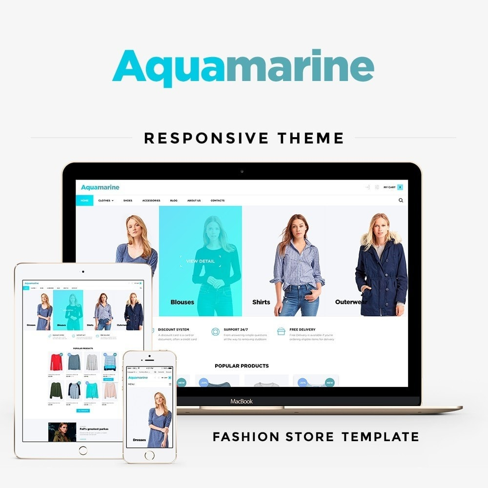 theme - Мода и обувь - Aquamarine Fashion Store - 1