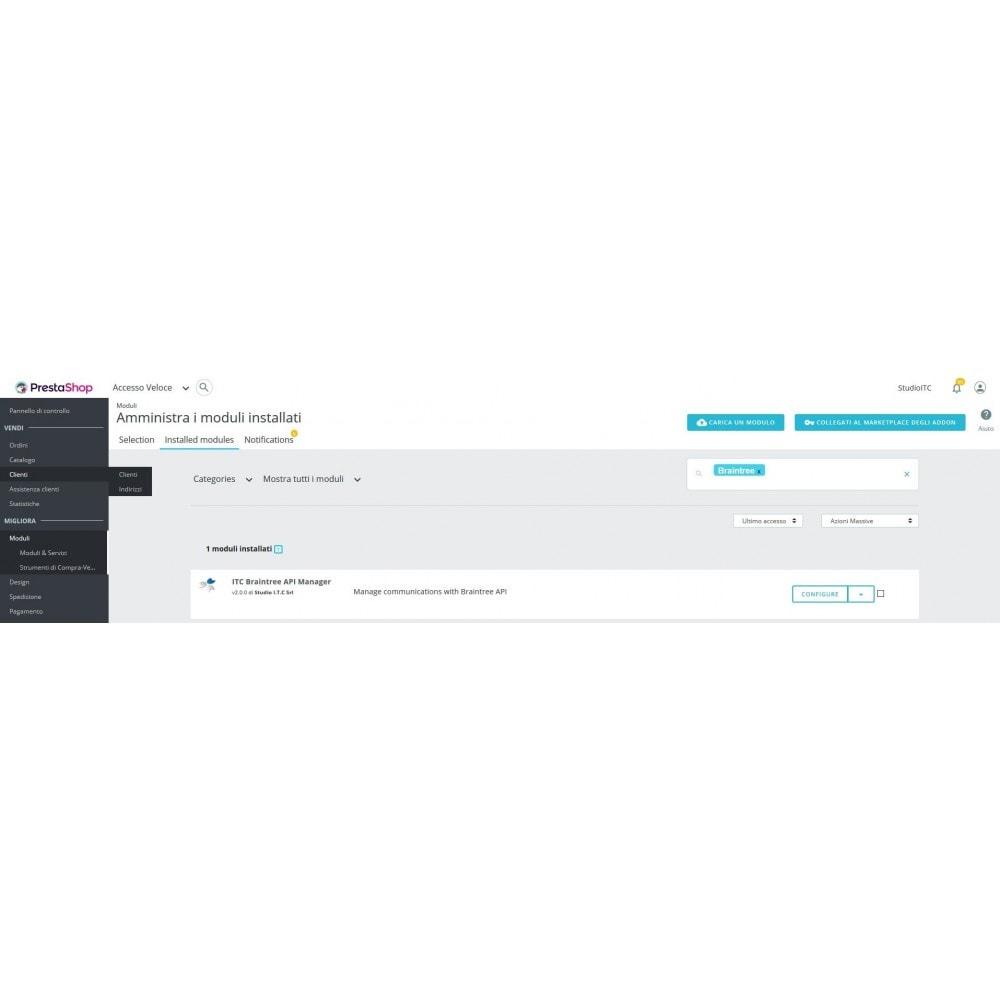 module - Pagamento con Carta di Credito o Wallet - Pagamento Braintree PayPal Company - 1
