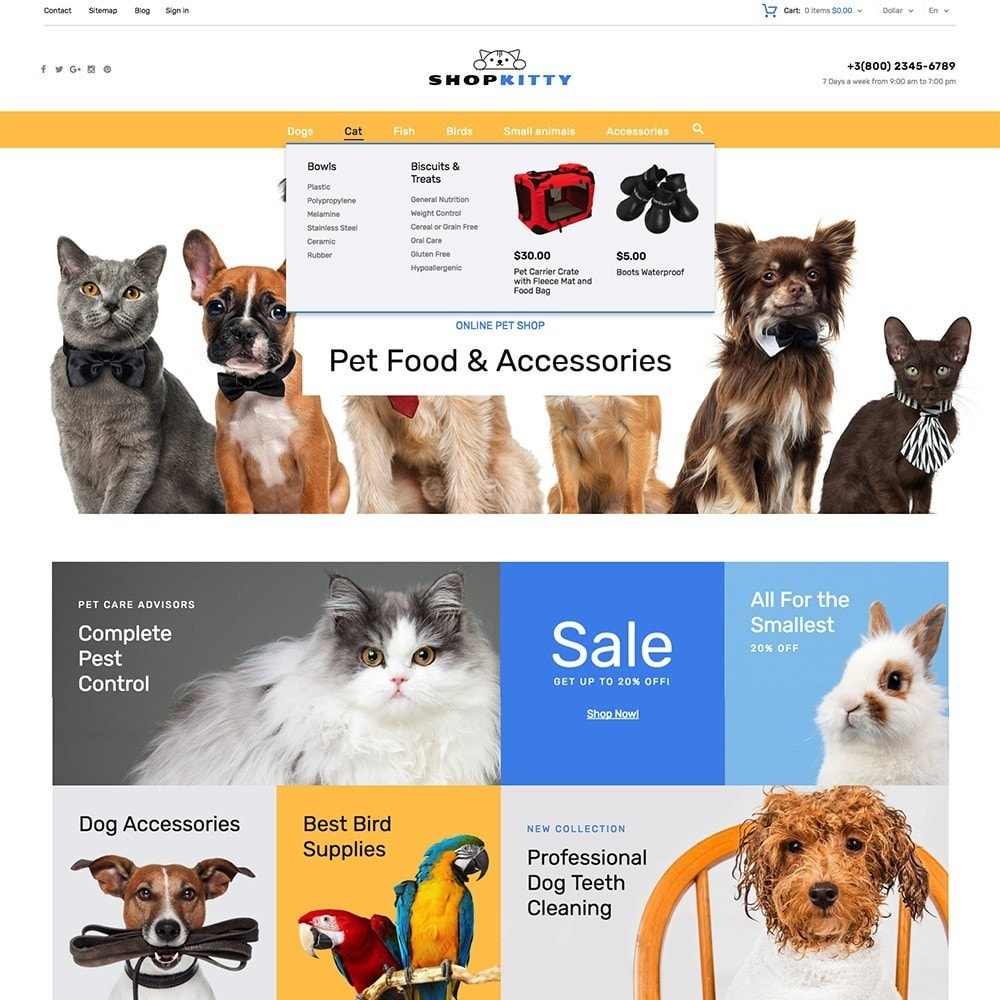 theme - Animals & Pets - ShopKitty - 5