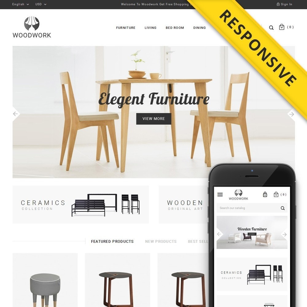 theme - Dom & Ogród - WoodWork - Furniture Store - 1