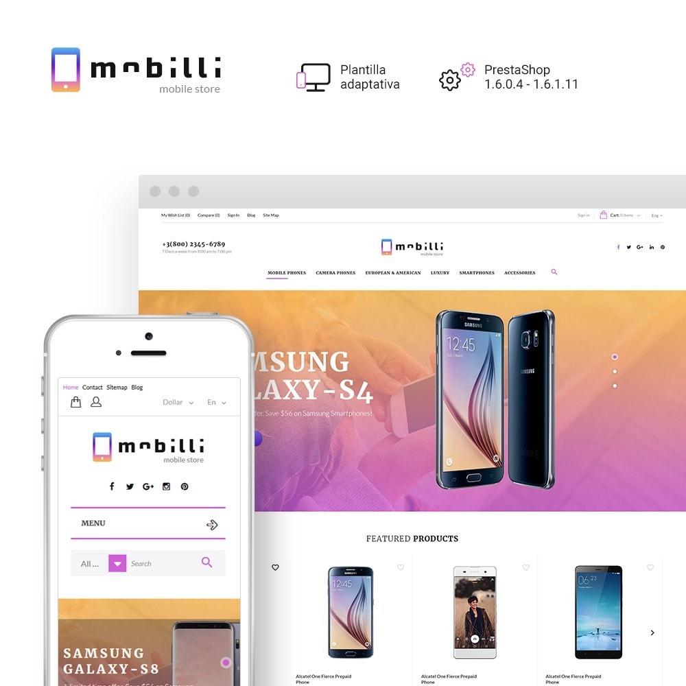 theme - Electrónica e High Tech - Mobilli - Tema para Sitio de Tienda de Móviles - 1