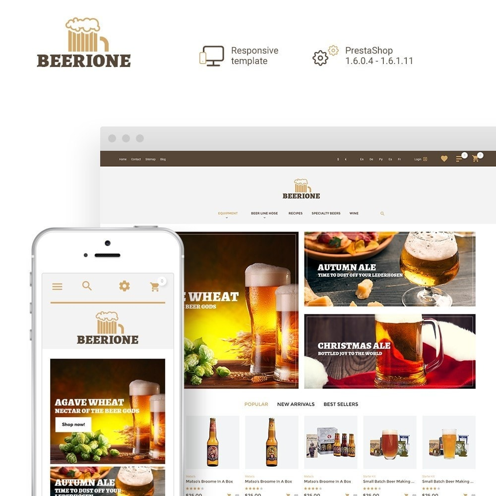 theme - Drink & Tobacco - Beerione - Brewing Equipment Store - 1