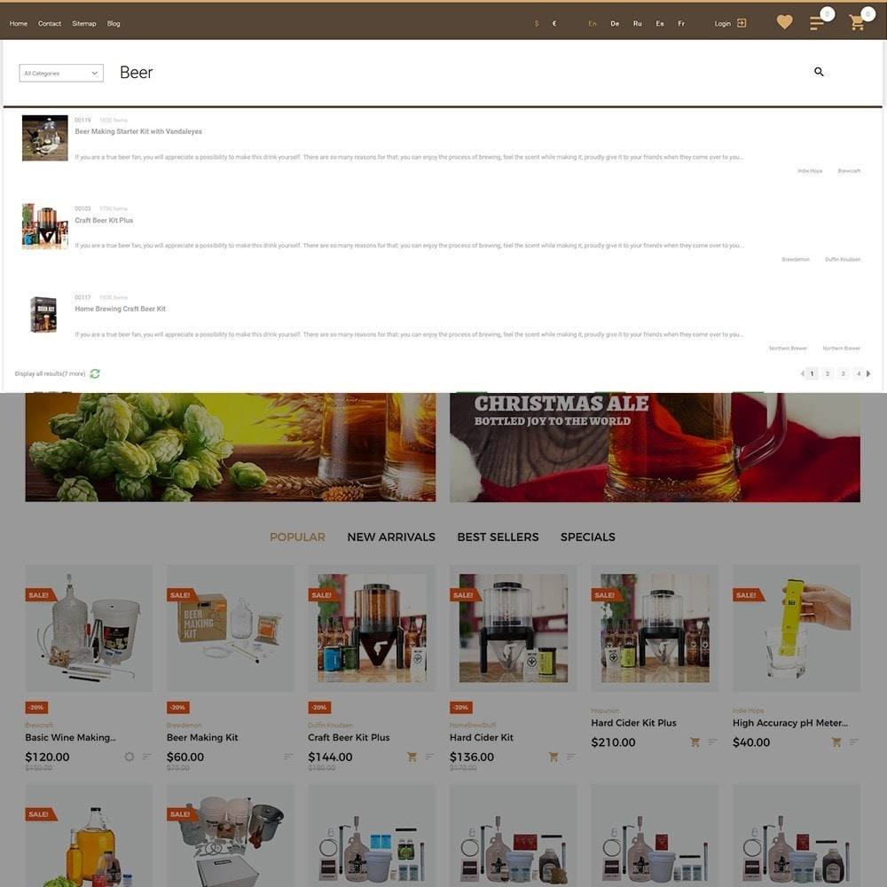 theme - Lebensmittel & Restaurants - Beerione - Brewing Equipment Store PrestaShop Theme - 5