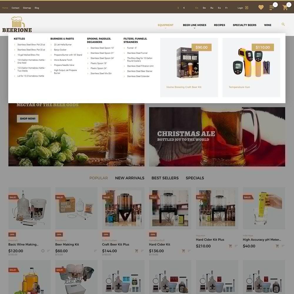 theme - Шаблоны PrestaShop - Beerione - PrestaShop шаблон на тему алкоголь - 4