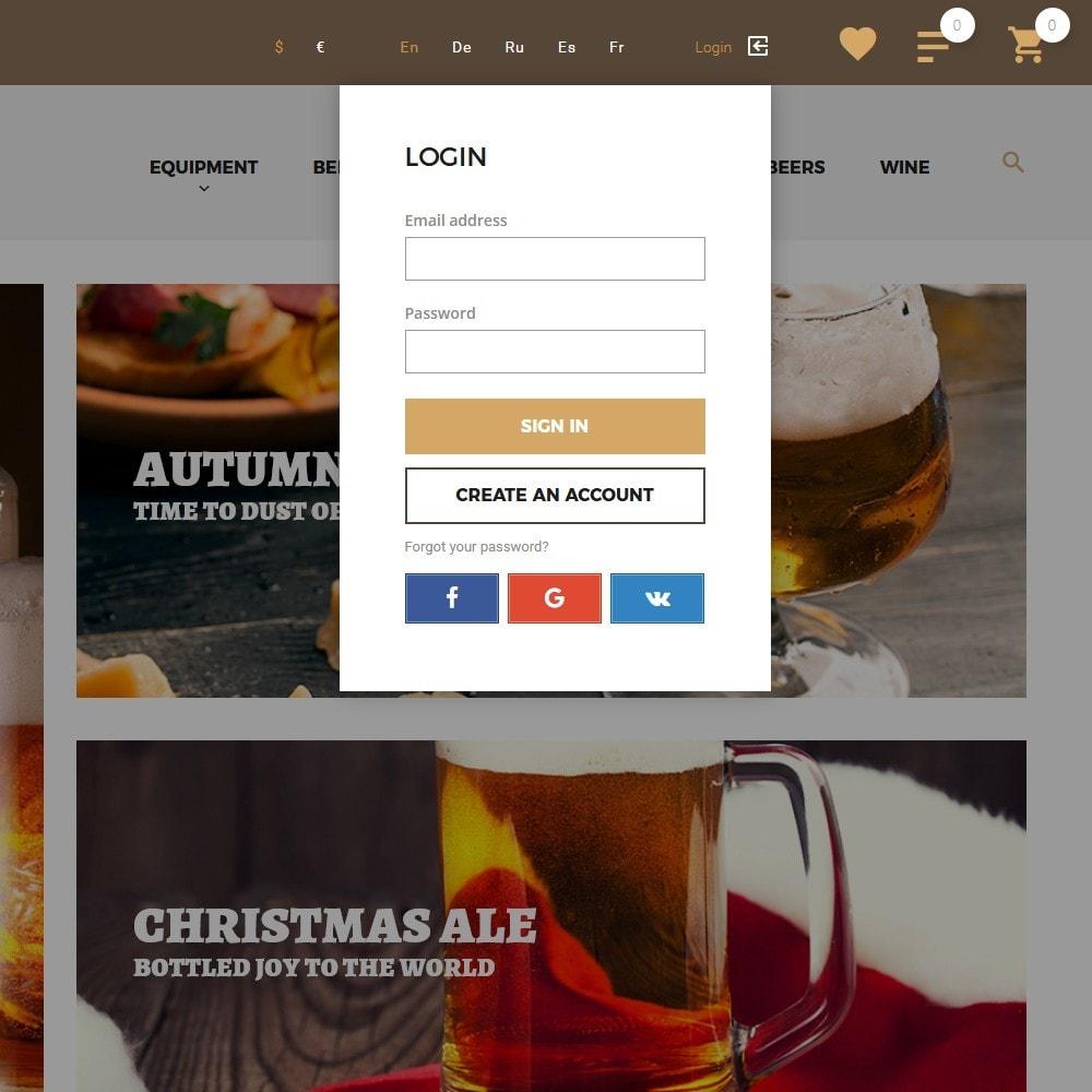 theme - Drink & Wine - Beerione - per Un Sito di Fabbrica di Birra - 7
