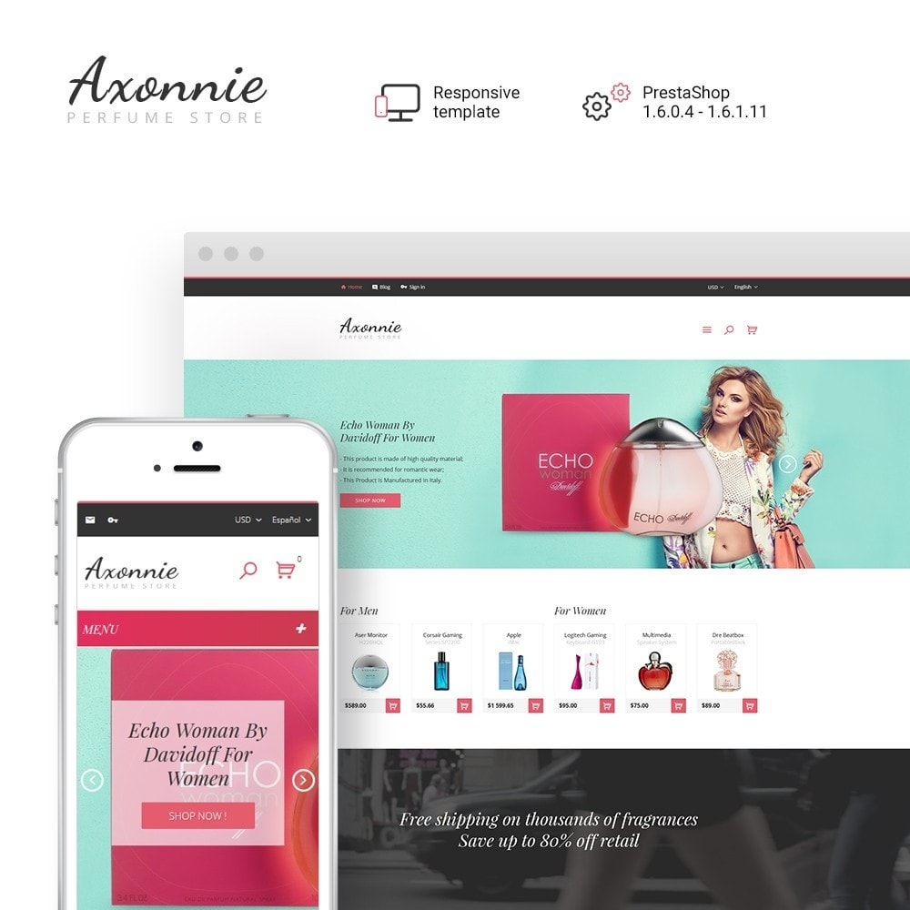 theme - Mode & Schuhe - Axonnie - Perfume Store PrestaShop Theme - 1