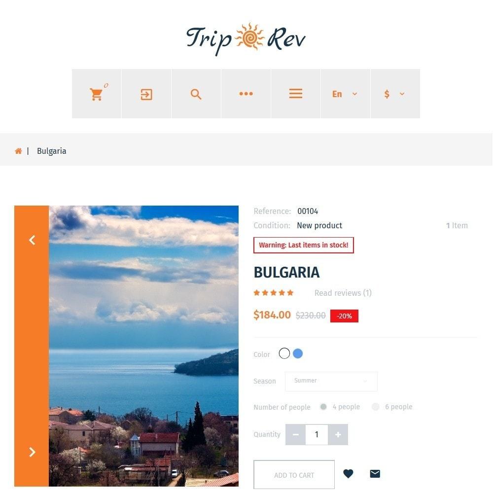 theme - Sport, Rozrywka & Podróże - TripRev - Travel Responsive PrestaShop Theme - 4