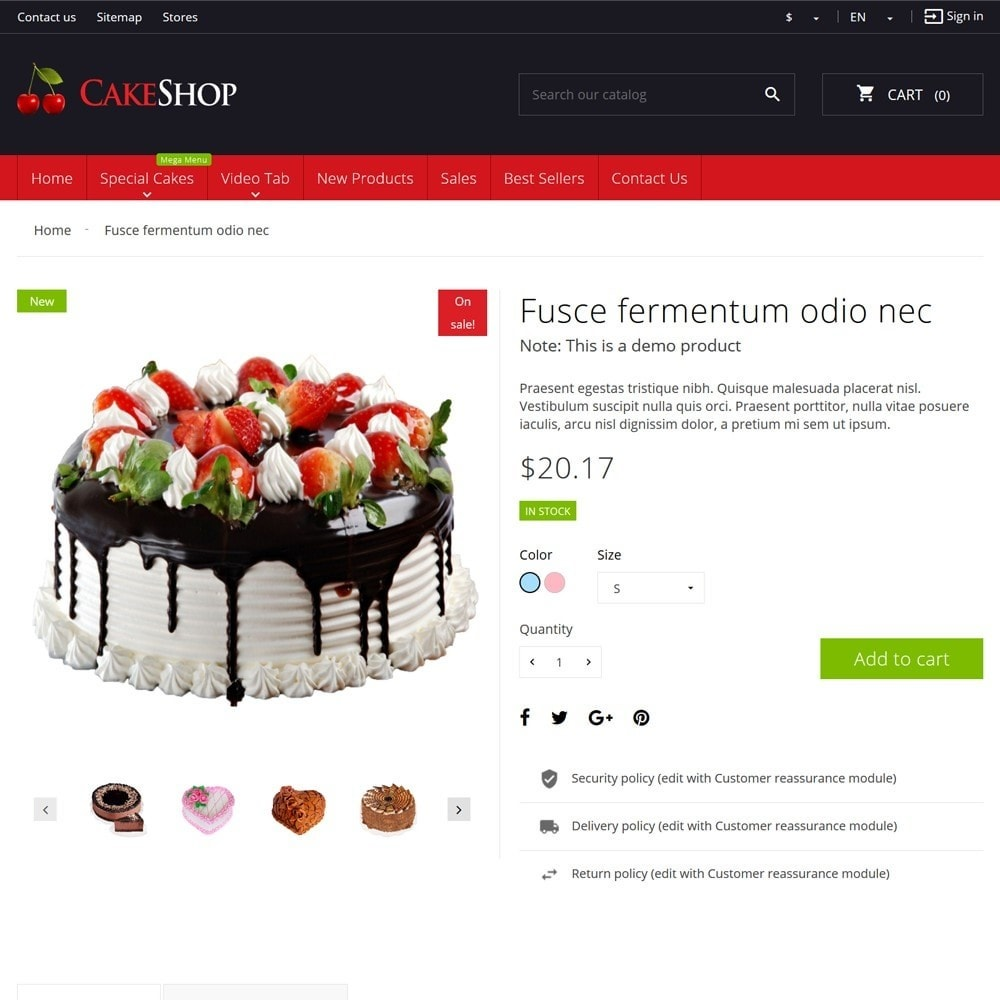 theme - Food & Restaurant - CakeShop - 7