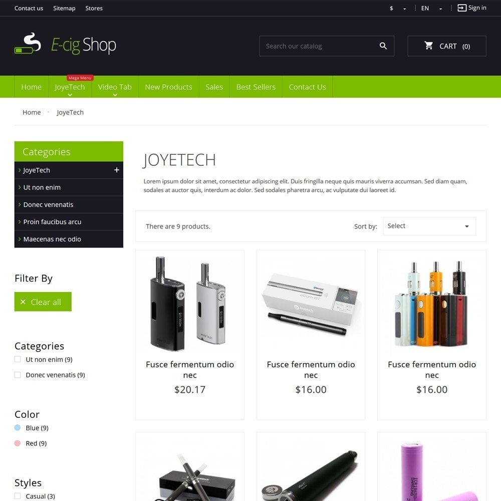 theme - Napoje & Wyroby tytoniowe - e-Cig Shop - 6