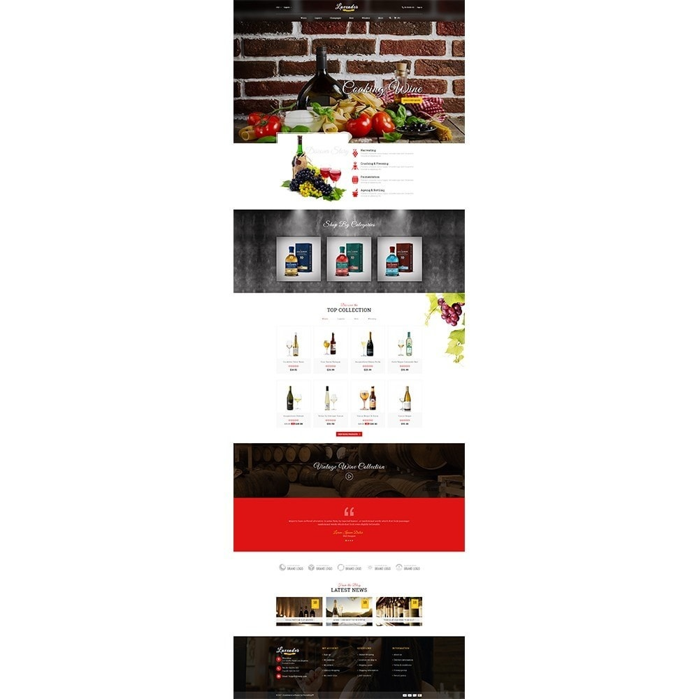 theme - Drink & Wine - Lavender Wine Store - 2