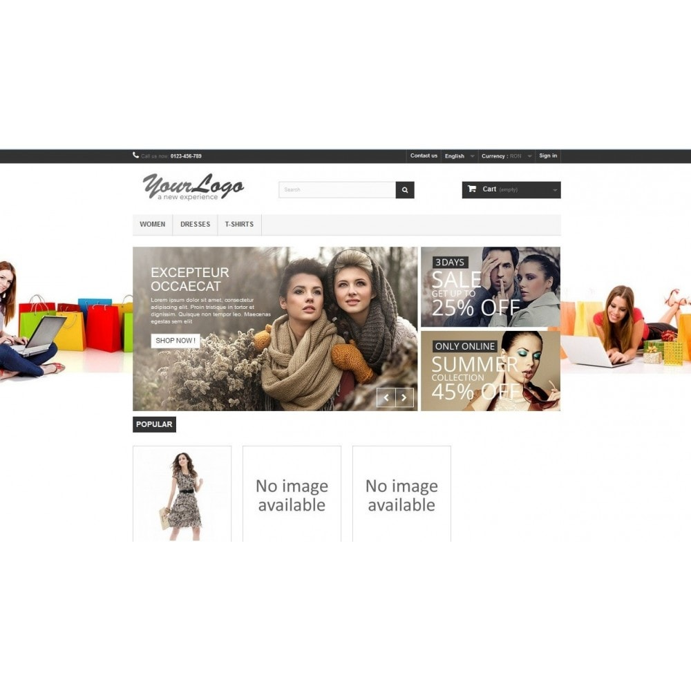 module - Page Customization - Background promo image - 2