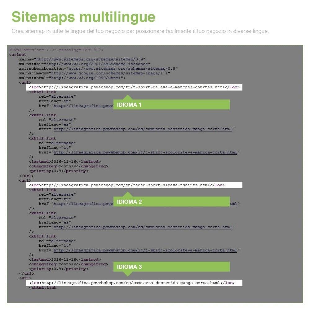 module - SEO (Indicizzazione naturale) - Sitemaps Pro Multi-Lingue e Multi-Negozio - SEO - 11