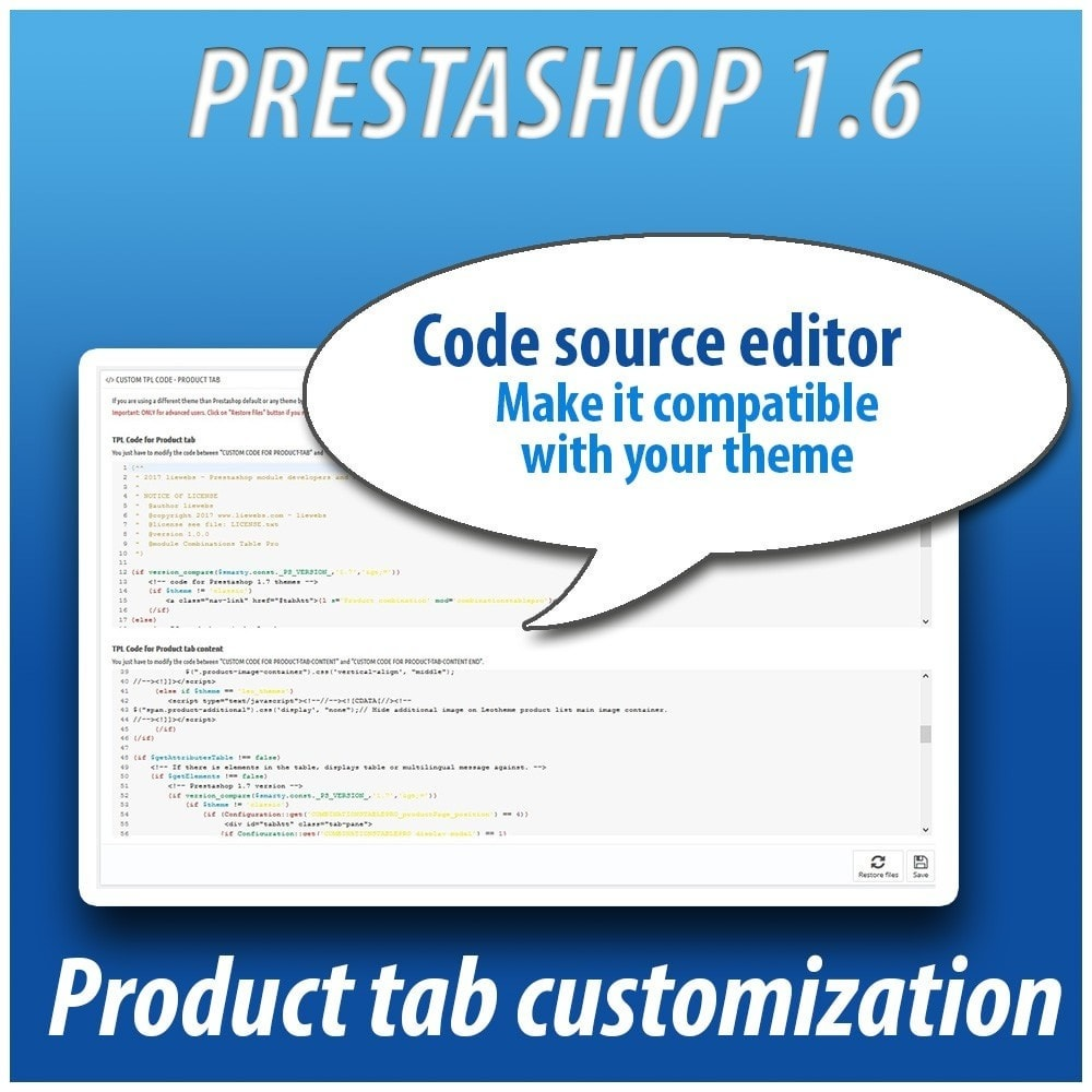 module - Combinations & Product Customization - Combinations Table PRO - 11
