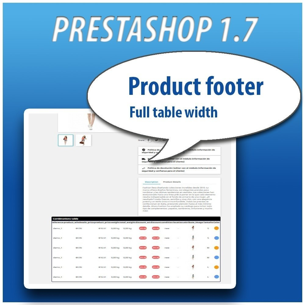 module - Versies & Personalisering van producten - Combinations Table PRO - 12