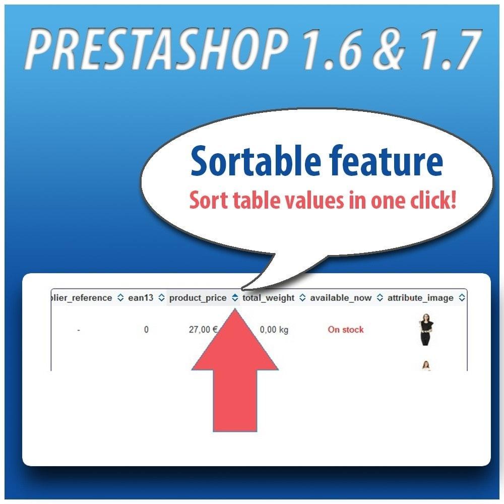 module - Combinaciones y Personalización de productos - Combinations Table PRO - 7
