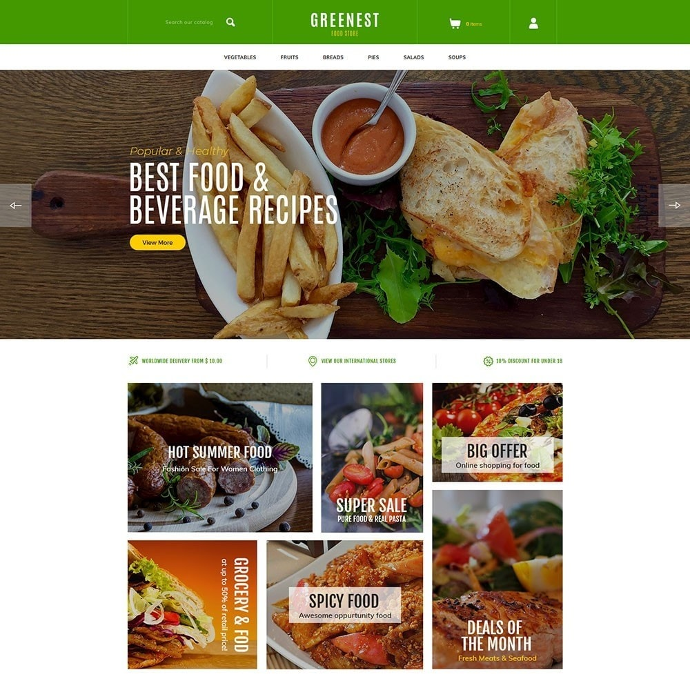 theme - Food & Restaurant - Greenest - Food Store - 2