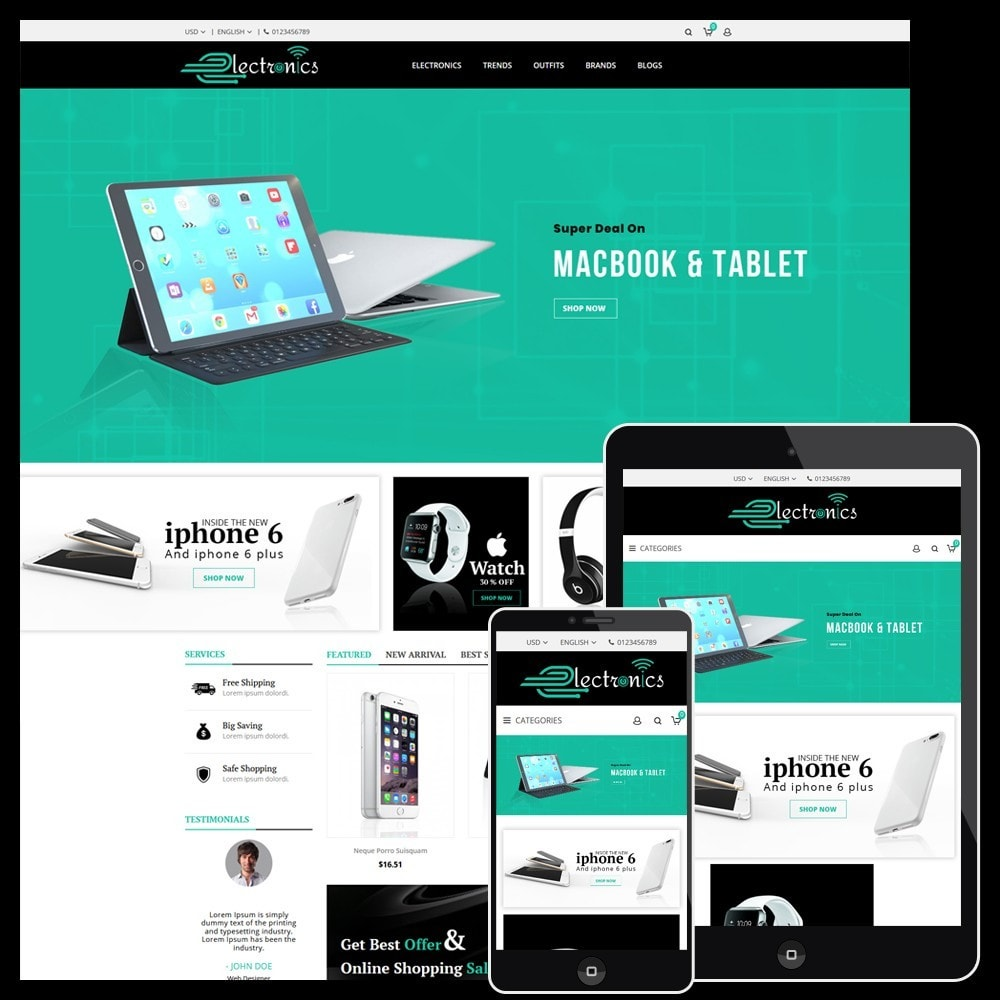 theme - Electronique & High Tech - Electronics Store - 1