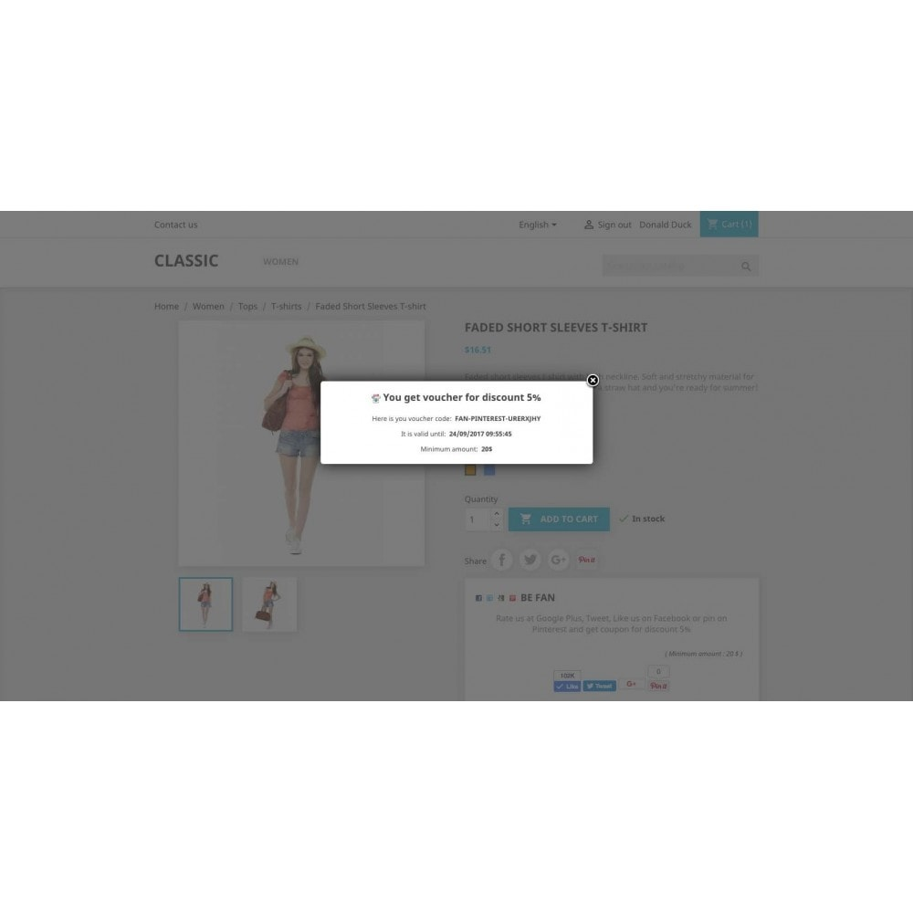 module - Social Network Coupon - Social Fan Coupons (4 in 1) - 6