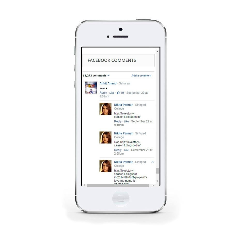 module - Compartir contenidos y Comentarios - Social Comments on Product page. - 4